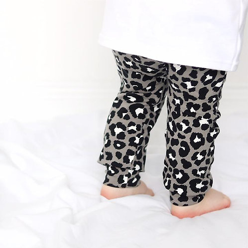 Fred & Noah Grey Leopard Leggings