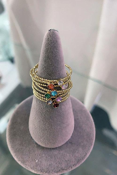Iris Rainbow Stacking Rings