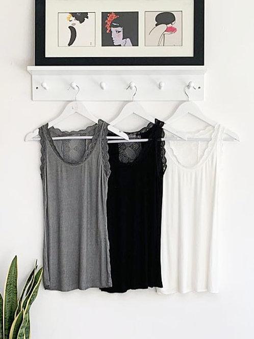 Elly Lace Panel Vest