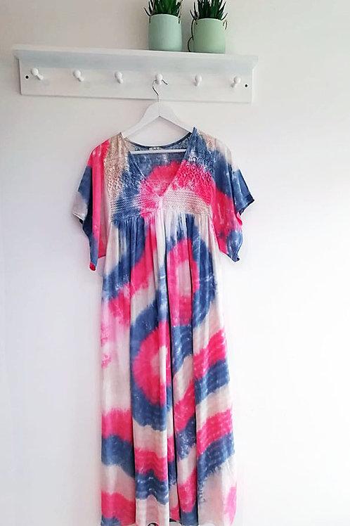 Aida Crochet Tie Dye Cotton Dress