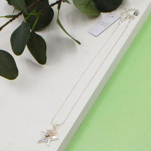 Double Star Pendant Necklace