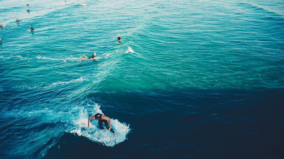 somatic surfing water flow ocean