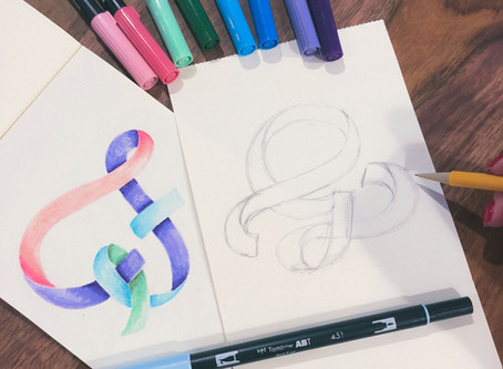Blend Colors to Create a Ribbon Letter