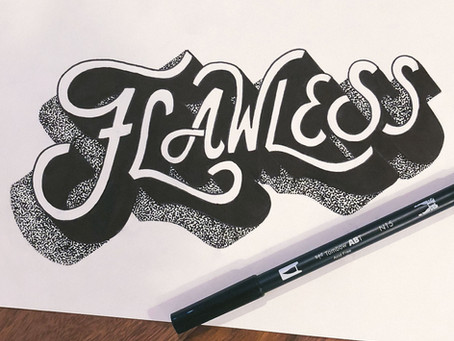 Add Dimensional Shadows to your Hand Lettering piece