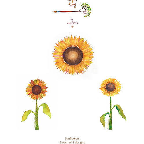 """Sunflowers"" - Set of 6 Art Cards"
