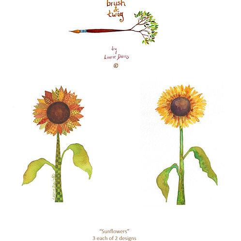 Sunflowers - 6 Card Set