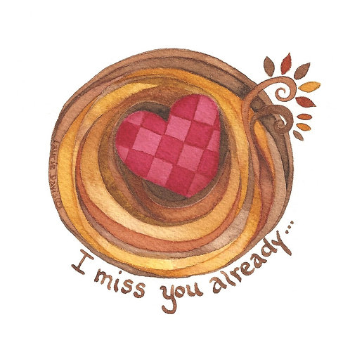 """I miss you already"" - Empty Nest Set of 5"