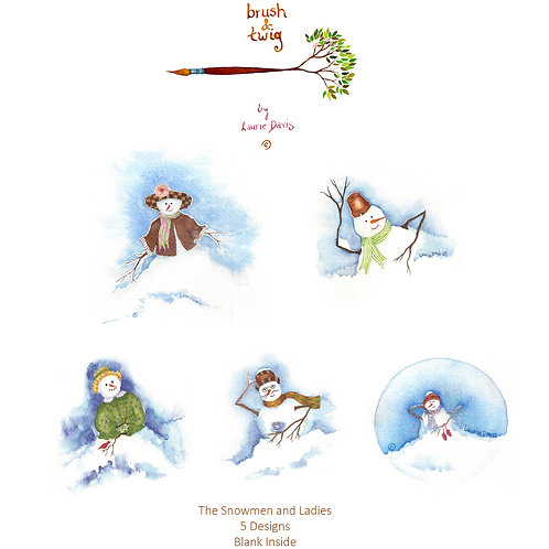 Snowmen & Snowladies - Variety Set of 5