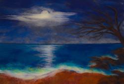 Moonlight on Rosarito Beach