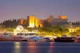 Rhodes-Mandraki-Harbour-and-castle-view-