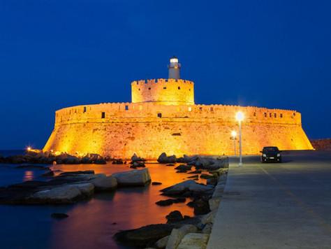St-Nicolas-at-Night-in-Mandraki-Harbour.