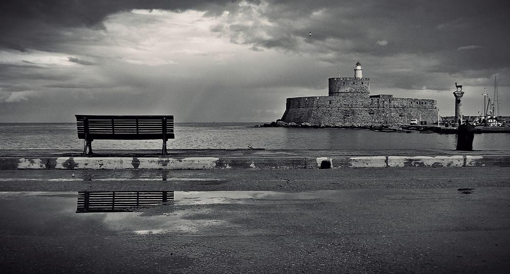 Rainy Rhodes - Rhodes Port - Mantraki - Greece