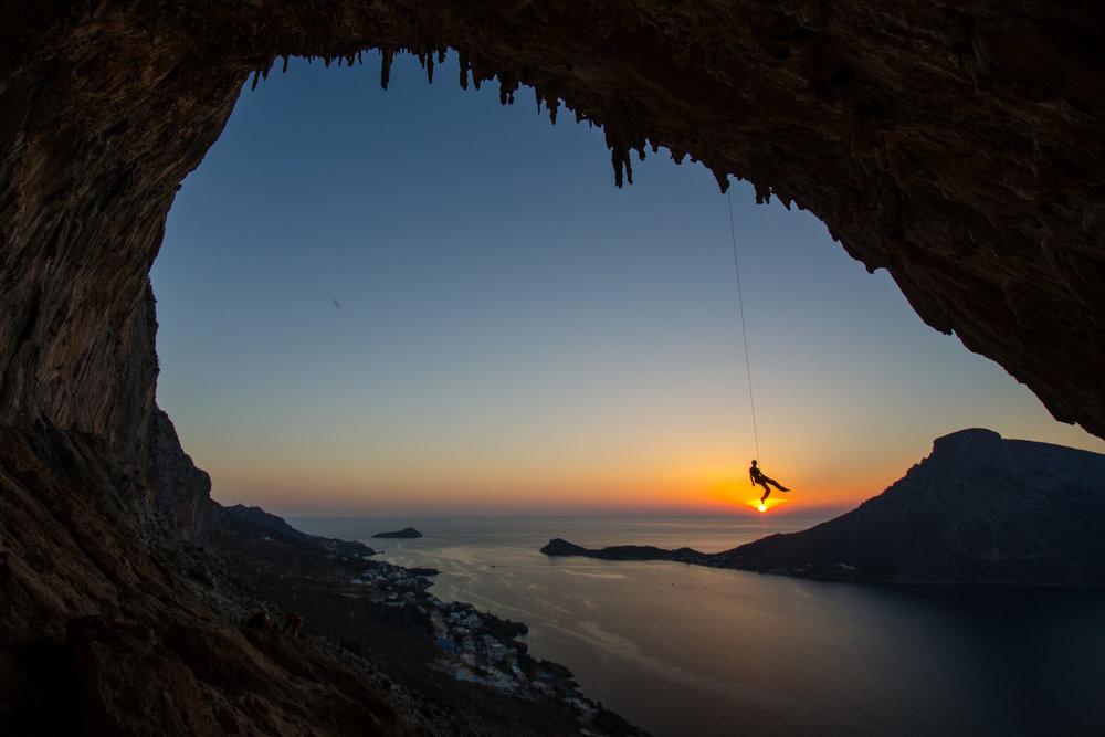 Rock Climbing, Kalymnos, Dodecanese Islands, Greece