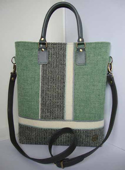 Green and cream large Bag