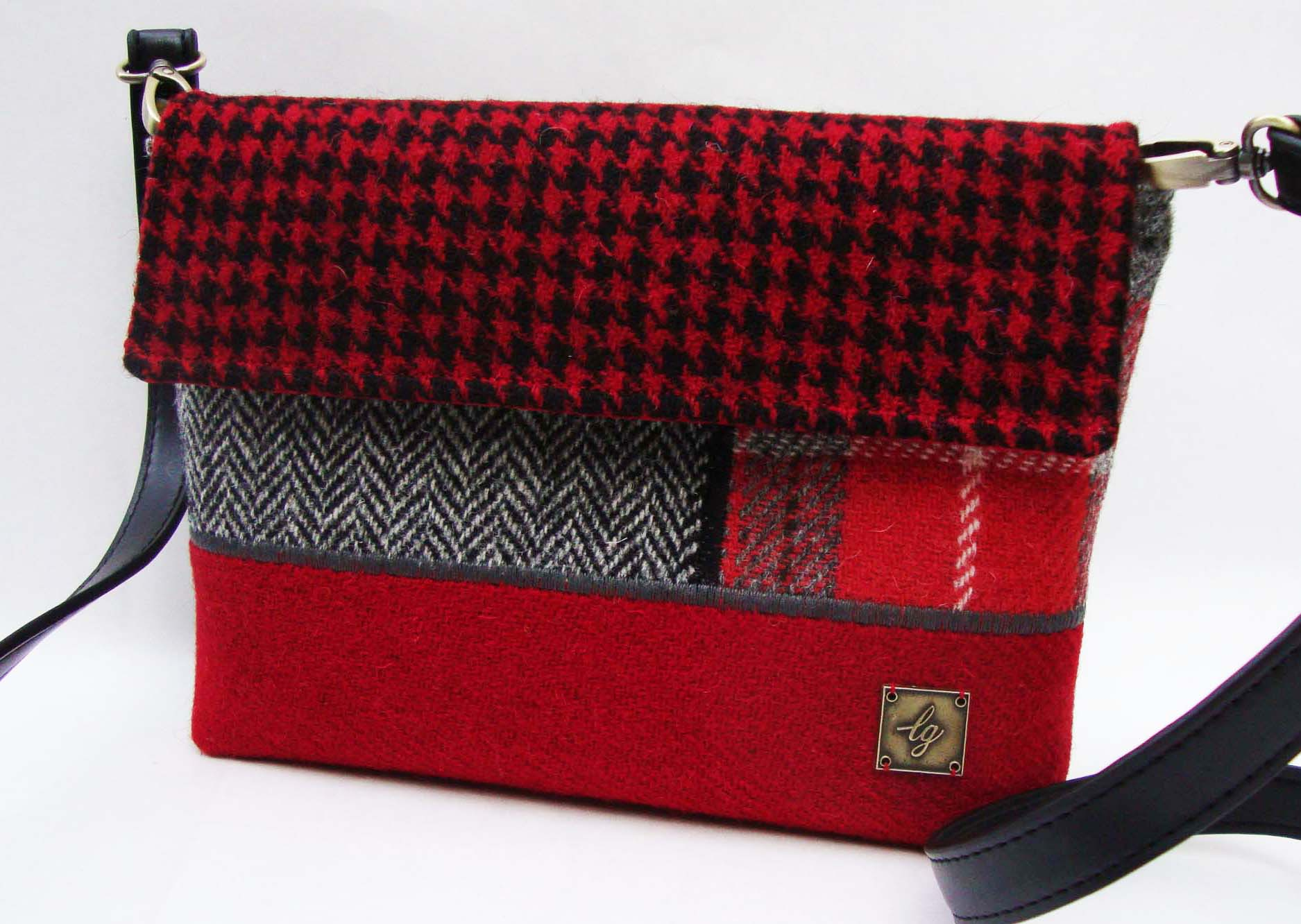 Red and grey small Bag