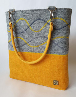 Yellow/grey patterned Bag