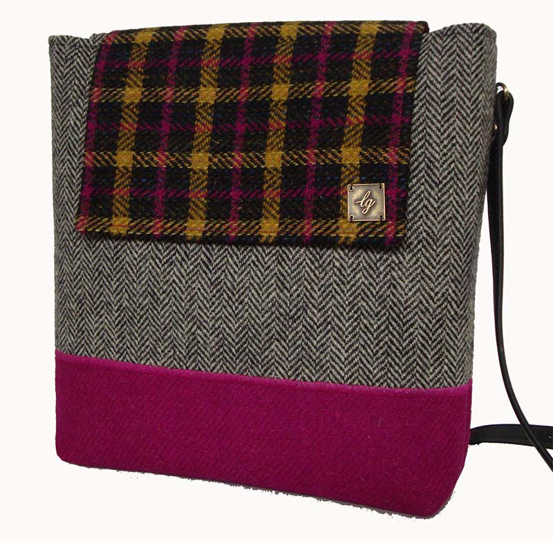 Medium pink and grey Bag