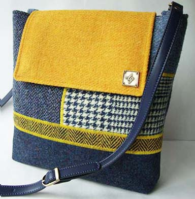 Blue and yellow medium Bag