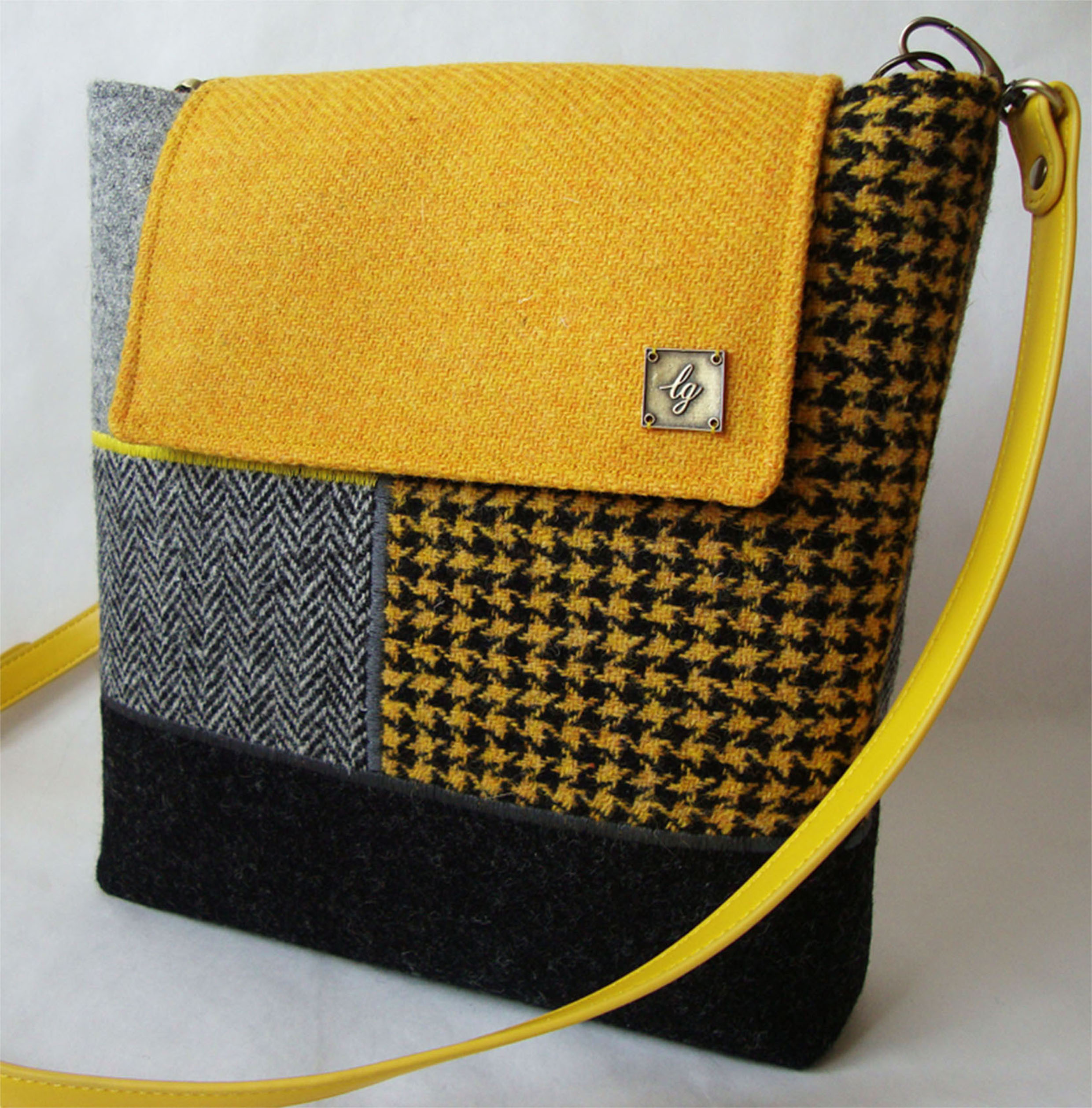 Yellow/grey Medium Bag