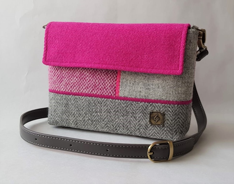 Small pink and grey bag