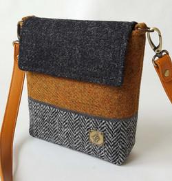 Mini brown and grey bag
