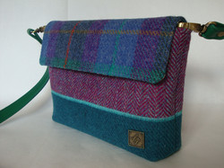 Small purple and green Bag