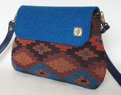 Black, blue and orange shaped Bag