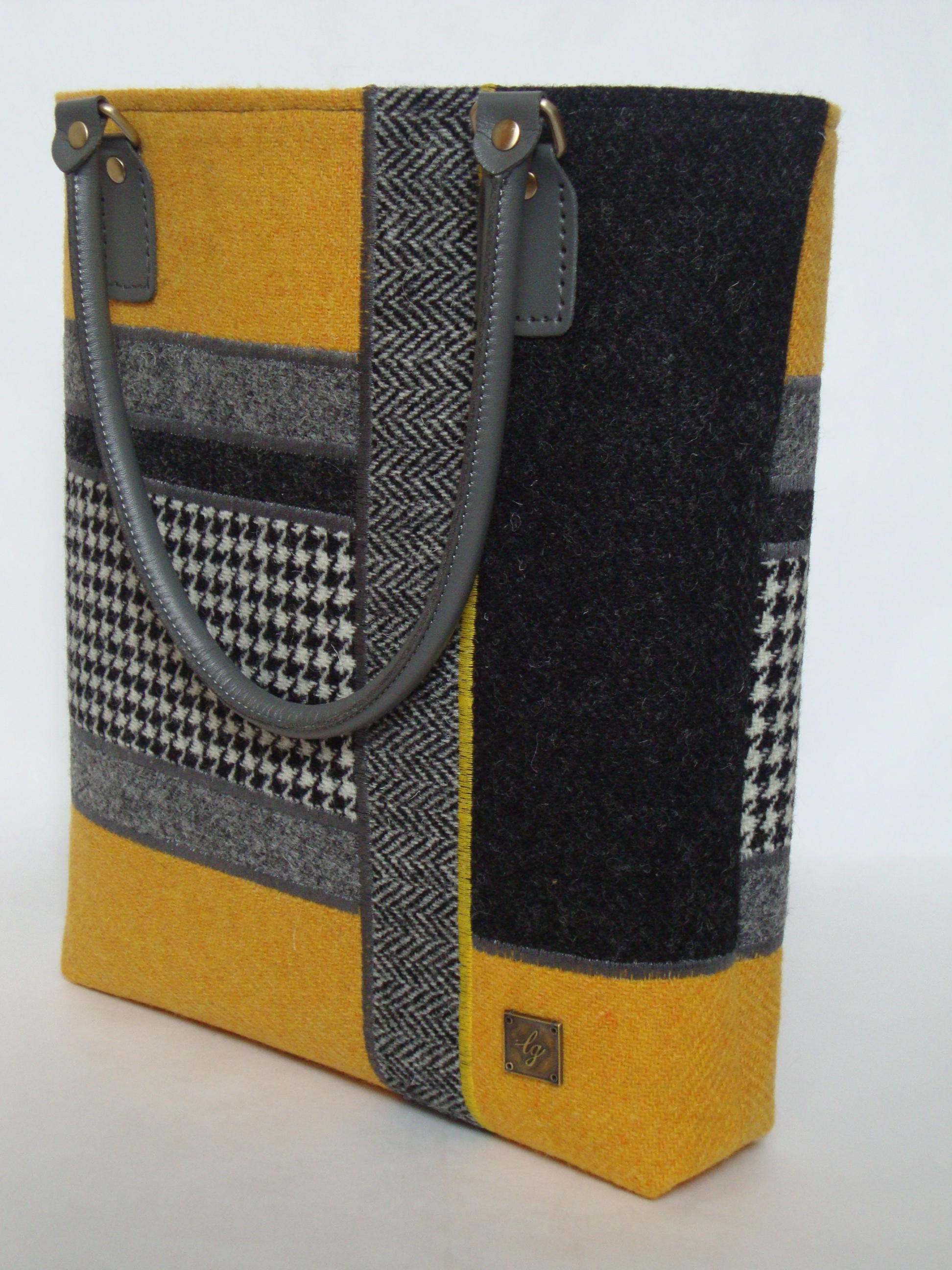 Large grey and yellow bag