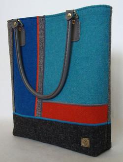 Blue and orange large Tweed Bag