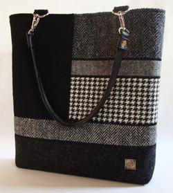 Large black and white Bag
