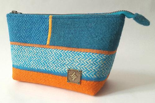 Blue and orange Make-Up Bag