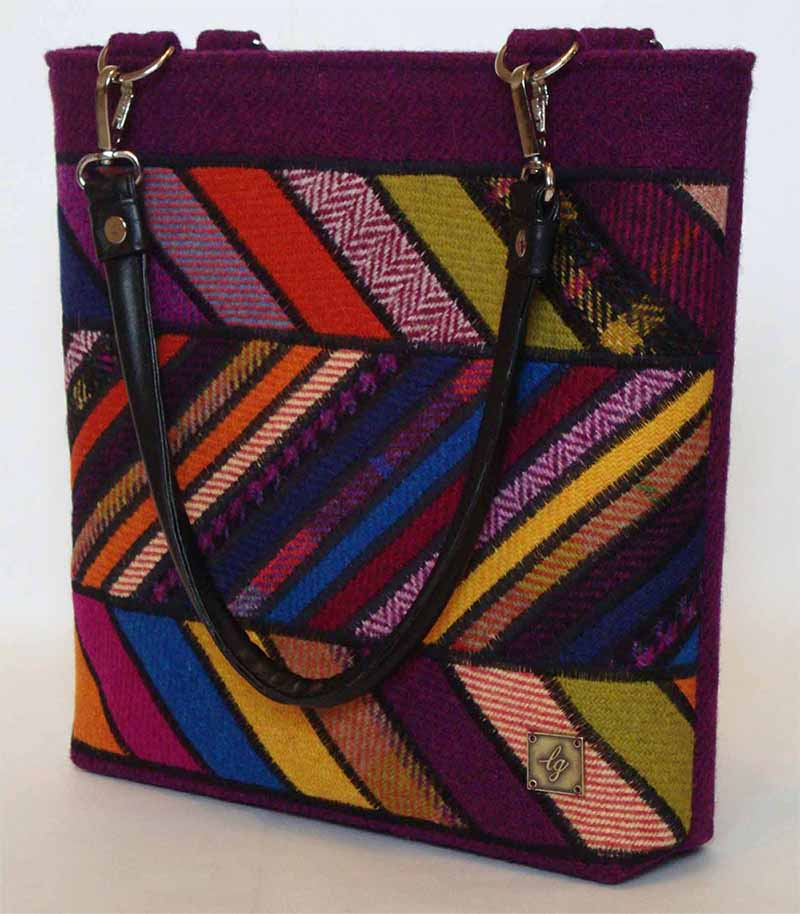 Multi coloured Harris Tweed Bag