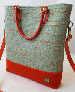 Patterned green and orange Bag