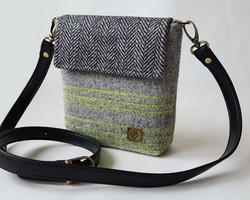 Mini grey black yellow bag