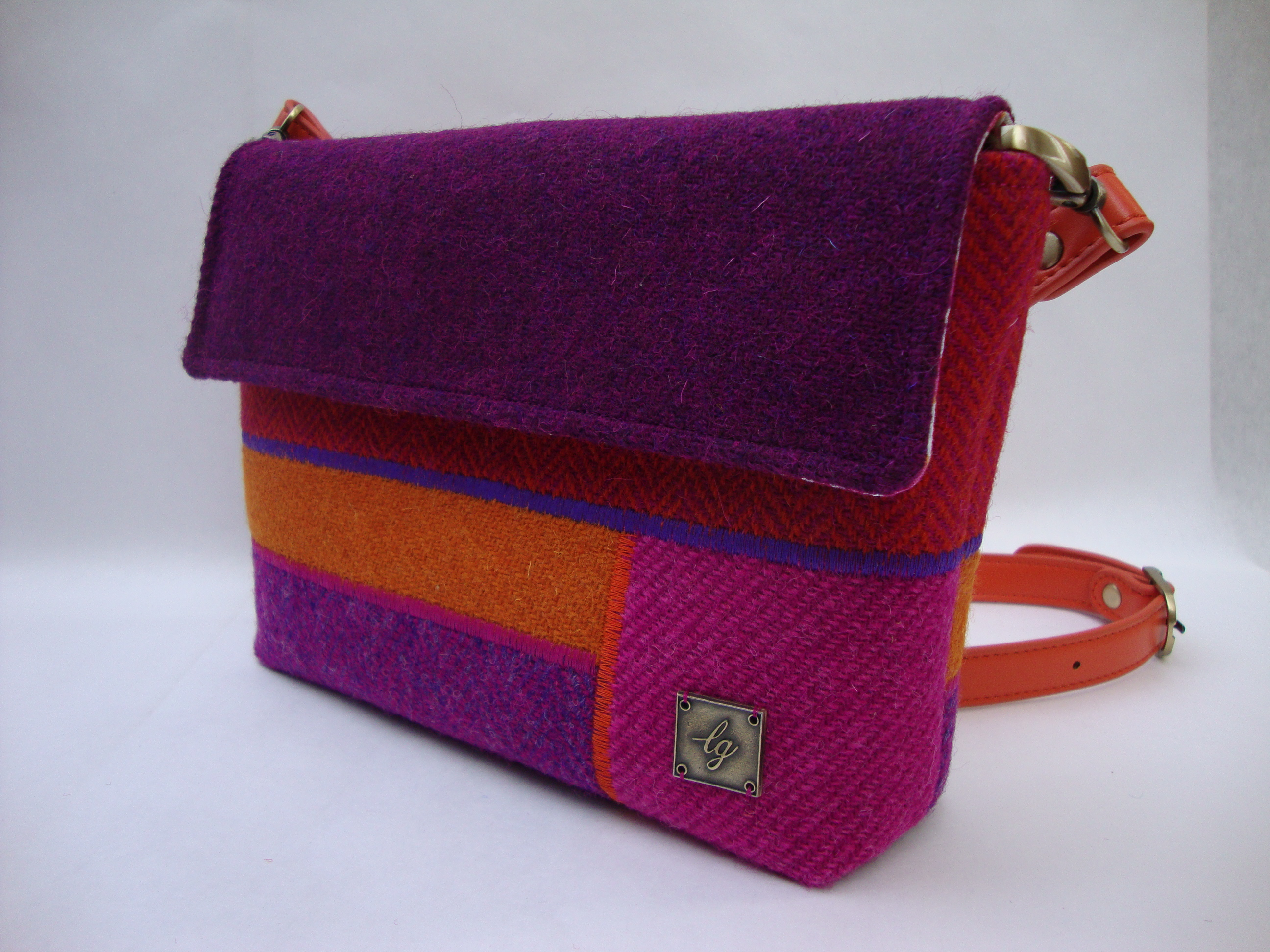 Pink, purple, orange small bag