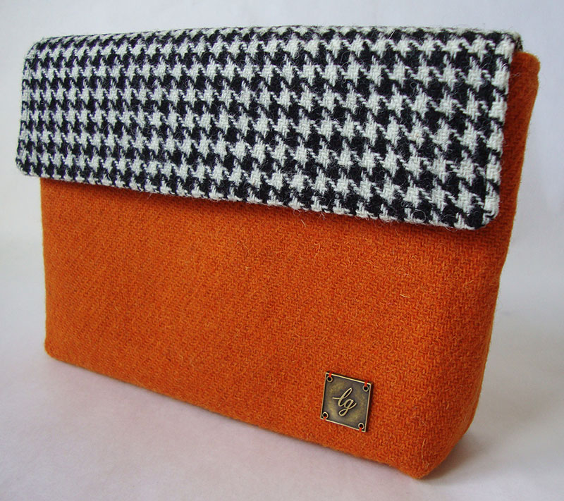 Small orange Tweed Bag