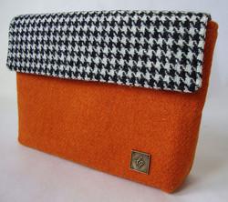 Small orange Tweed Bag