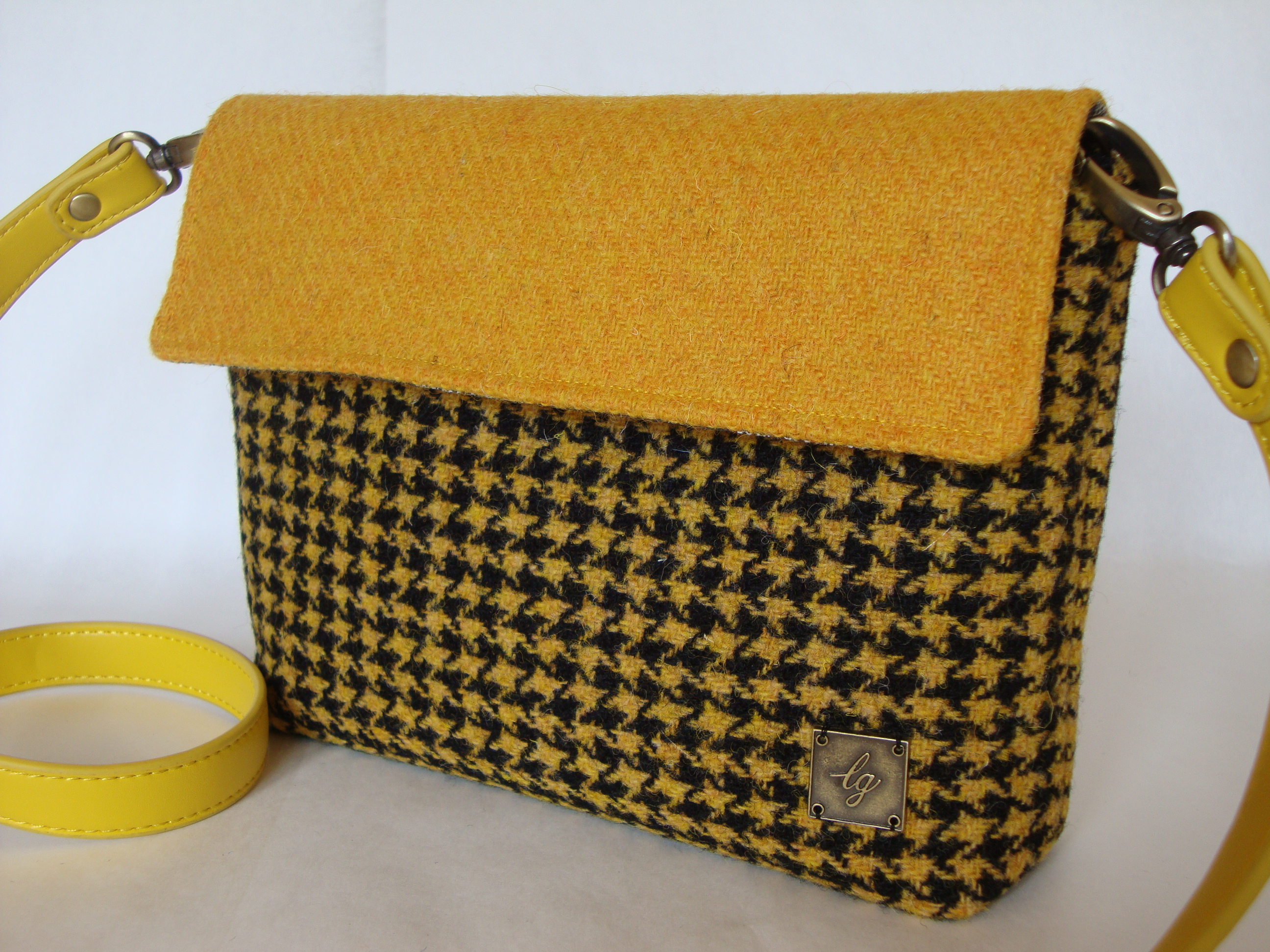 Black and yellow small bag