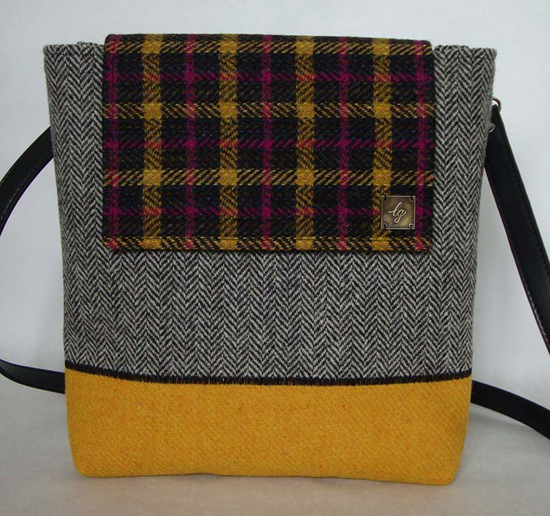 Grey and yellow Bag