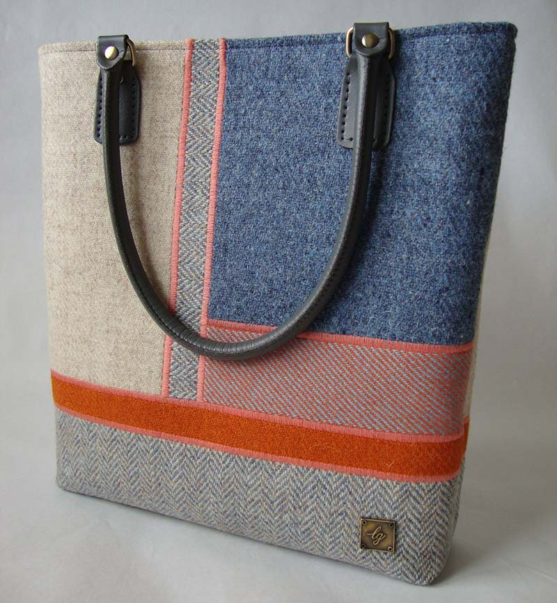 Mixed colour Harris Tweed Bag