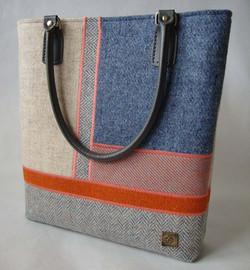 Mixed colour Harris Tweed Bag