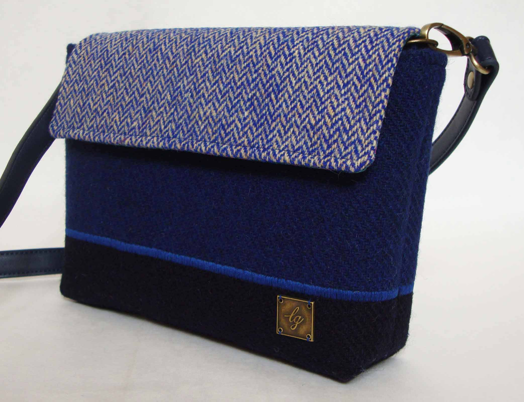 Small blue Tweed Bag