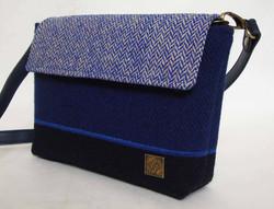 Small blue Tweed Bag