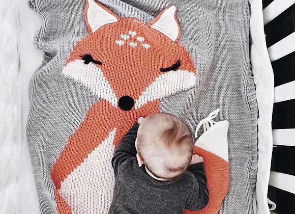 Couverture bébé - Léonard le renard