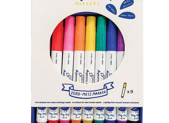 9 Marqueurs colorés effaçables