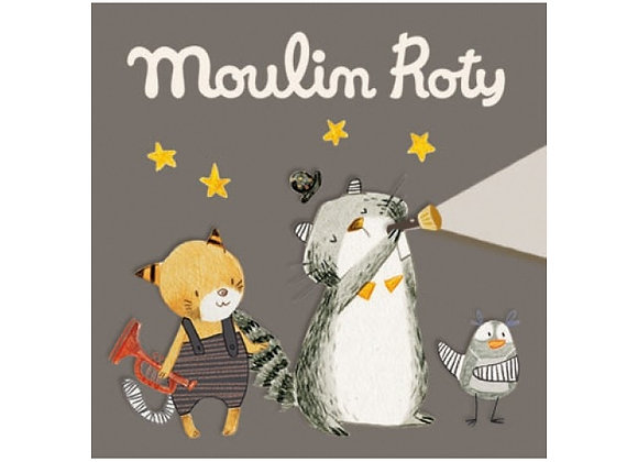 Boîte de 3 disques pour lampe à histoires Les Moustaches Moulin Roty