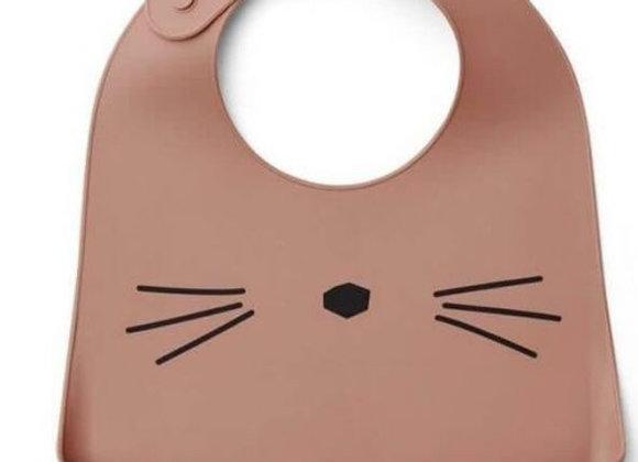 Bavoir en silicone chat