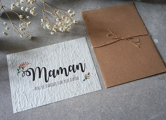 Carte ensemencée - Maman