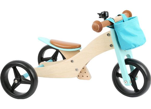 Draisienne-Tricycle 2 en 1 Turquoise