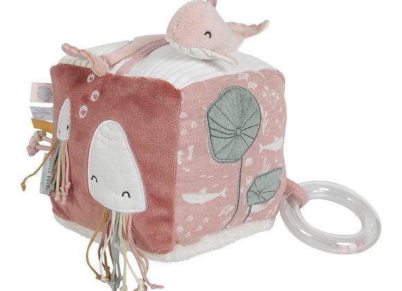 *Cube d'activités en tissu Océan Pink